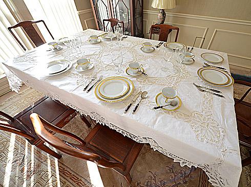 battenburg lace dinner size tablecloth